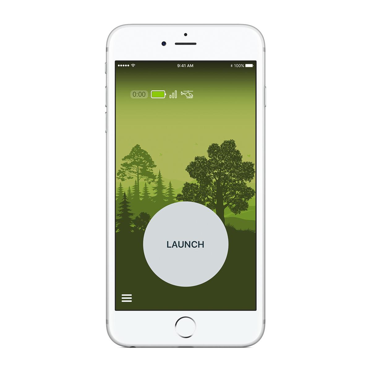 操作がひと目でわかるシンプル設計のアプリ。スマホでカンタン操作の飛行機型ドローン|Toby Rich