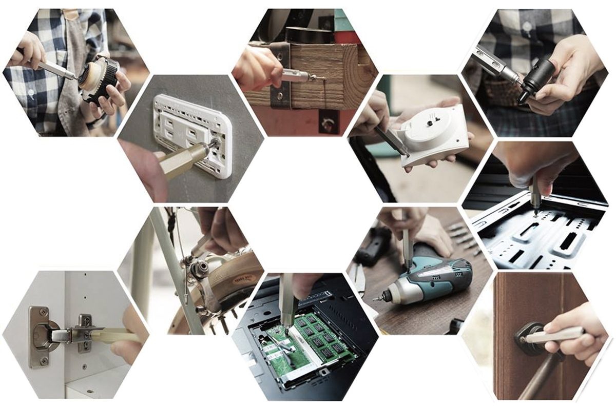 一般家庭の必需品を修理する時に活躍するスタイリッシュな工具
