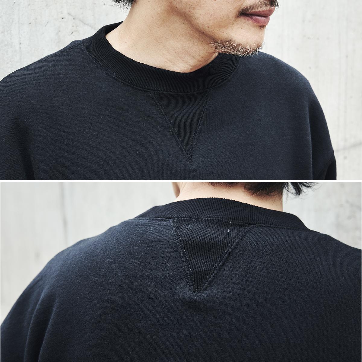 両面V字ガゼット|コレクターが唸る、独自のディテールが魅力。スポルディング社の名作から、現存していない「ブラック」をMade in Japanで「トレーニングシャツ」|A.G. Spalding & Bros