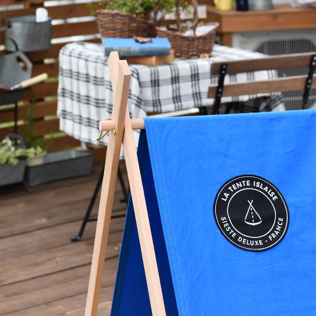 室内やテラスに広げても、プチキャンプ気分を味わえる「帆布テント」|LA TENTE ISLAISE(ラ・タント・イレーズ)