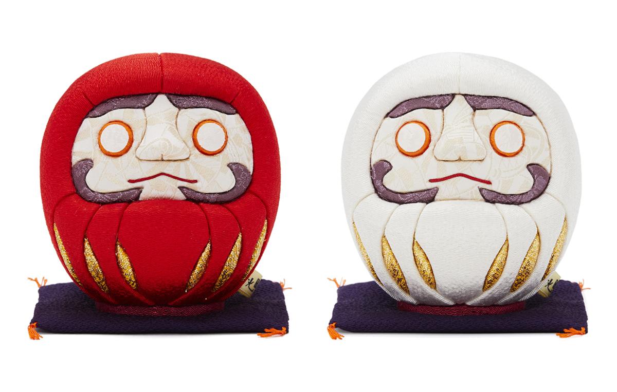 伝統の木目込み技術とモダンデザインが出逢った願掛けだるま 風水紅白|柿沼人形