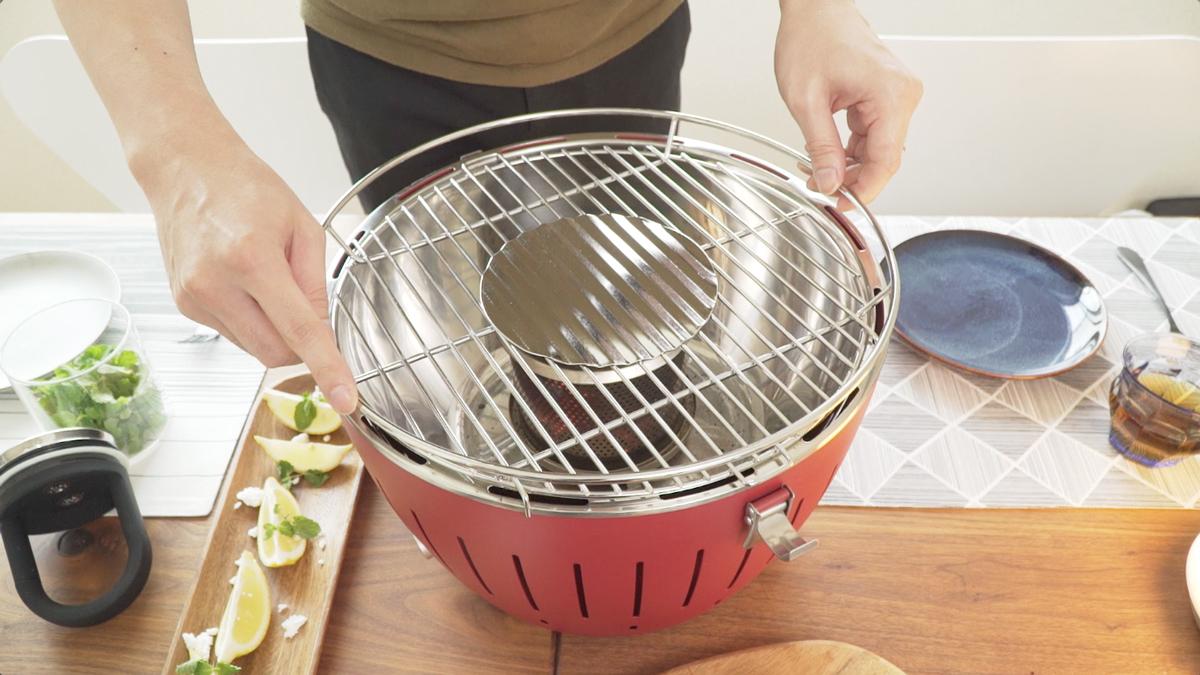 マンションや住宅地でも炭火バーベキューができる煙が少ないロースター|Lotus Grill(グリル網)