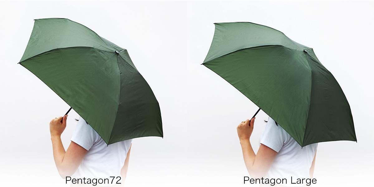 《モデル身長:162cm》水はじきバツグン、極細なのに耐風構造の「世界最軽量級折りたたみ傘」|Pentagon72