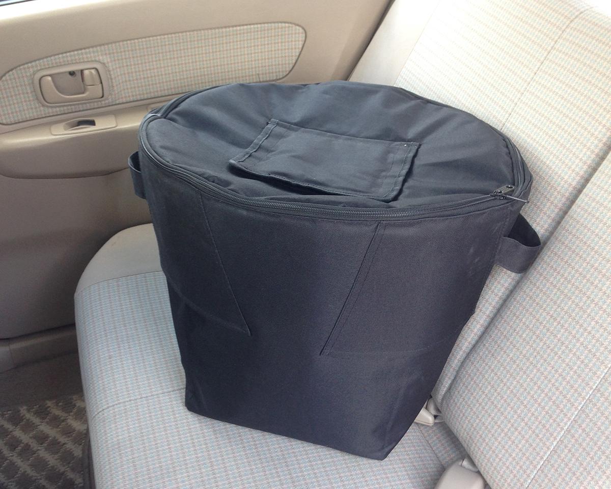 ランドリーバッグ、根菜ストッカー、保冷バッグとしても使えるスタンド型クーラーバッグ|PARTY STAND COOLER