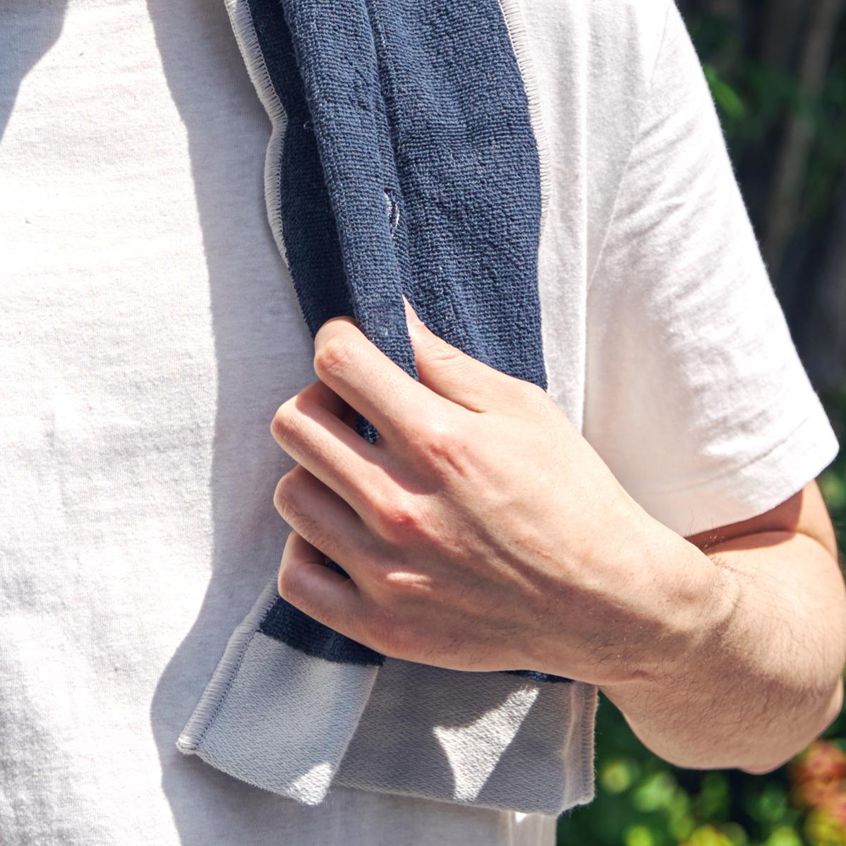 いつも気持ちいい感触と、使い勝手のよさ、洗練されたデザインがそろったタオル。酸化チタンと銀の作用で、生乾き臭・汗臭の菌を分解する「タオル」|WARP