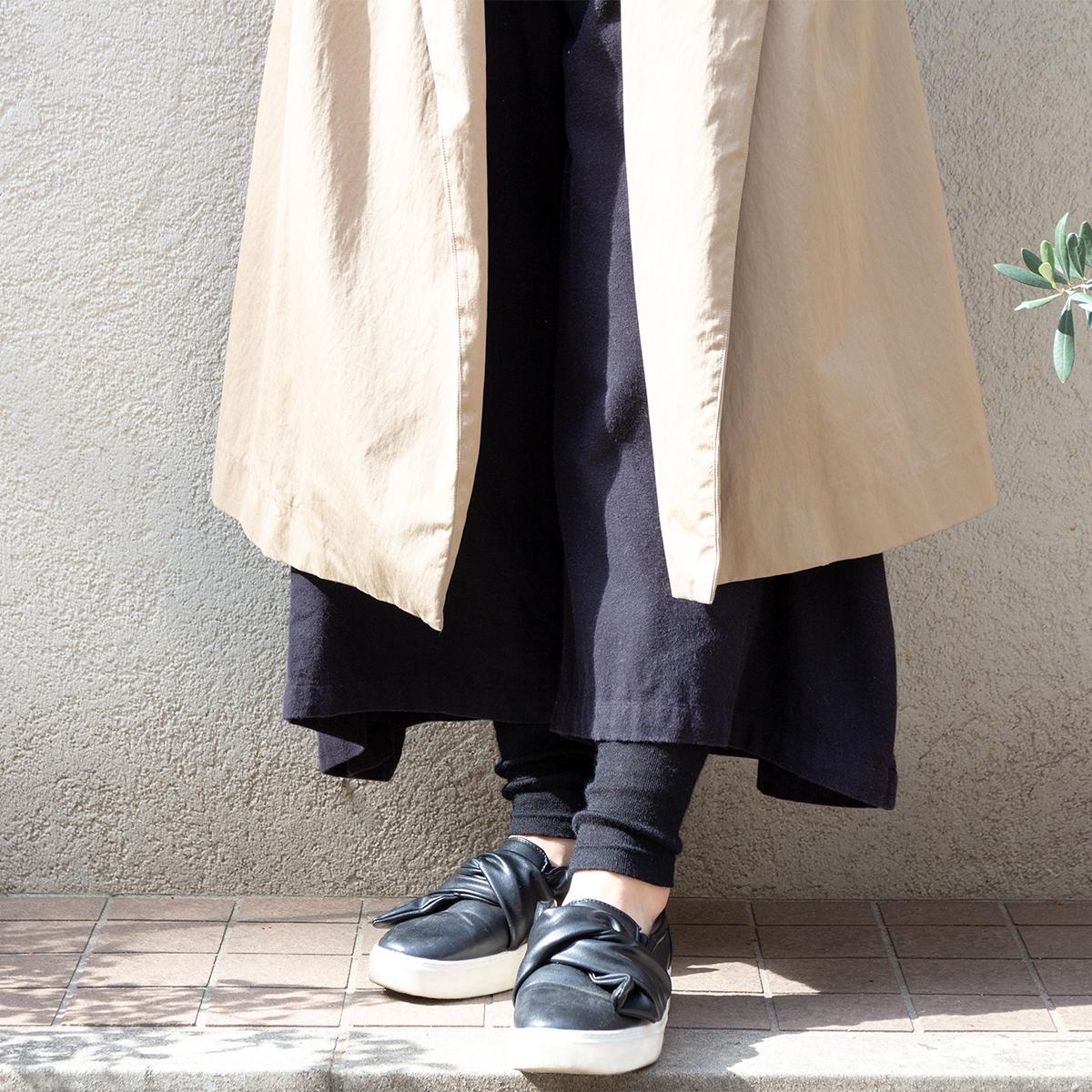 ワンピースやワイドパンツの裾から見せてもかわいい、あったかレギンス|ロイヤルベビーアルパカ