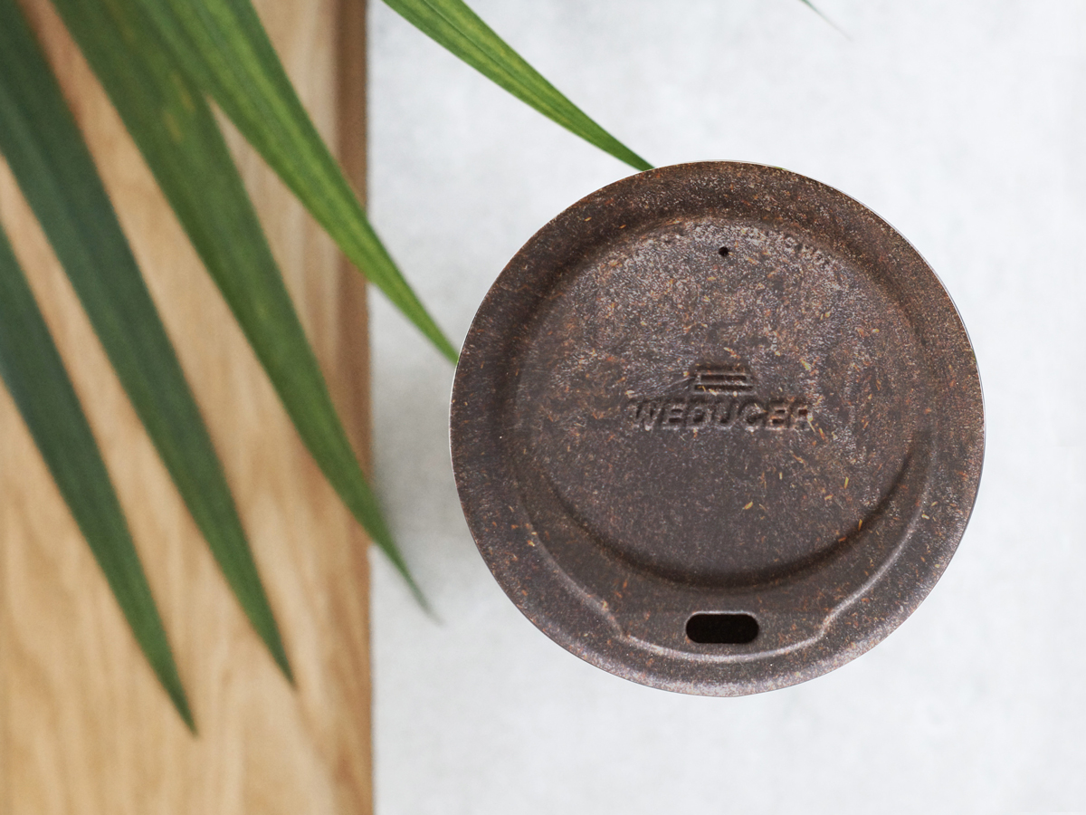 フタ付きカップ|コーヒー抽出後の豆かすが、おしゃれなカップに再生!|KAFFEE FORM