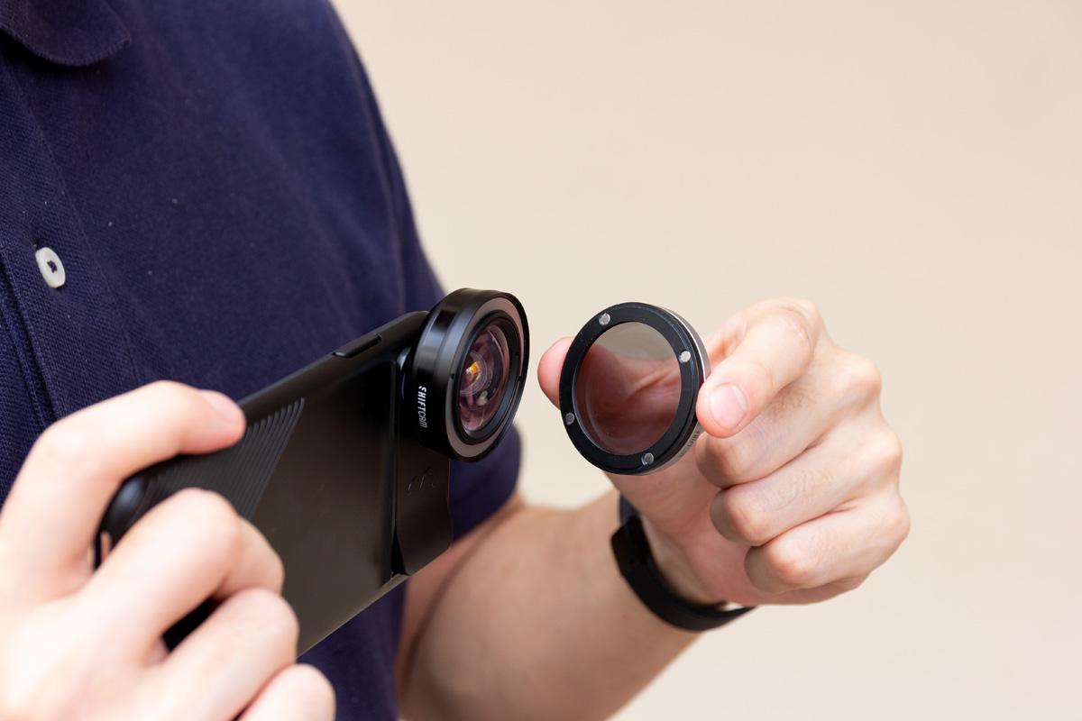 マグネット式で気持ちよく装着できる、iPhoneで使えるプロが使うレンズアクセサリー「CPLフィルター」 | ShiftCam 2.0