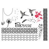 Inkwear Tattoos|Tattoo風シール/チェーンと鳥|