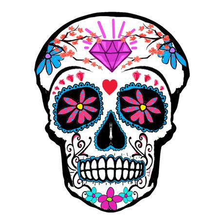 Inkwear Tattoos|Tattoo風シール/紫スカル|