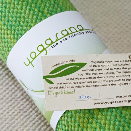 Yogasana ヨガマット|エシカルなヨガマット Spring(グリーン)|
