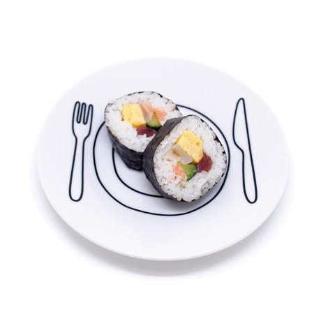 plate-plate S - ご飯がカフェ風に変身するお皿 おしゃれな和モダン雑貨 ブラック