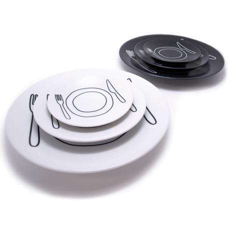 plate-plate M - ご飯がカフェ風に変身するお皿 おしゃれな和モダン雑貨 ホワイト