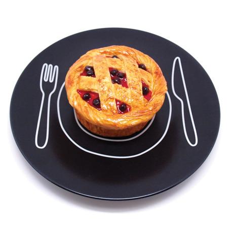 plate-plate L - ご飯がカフェ風に変身するお皿 おしゃれな和モダン雑貨 ブラック