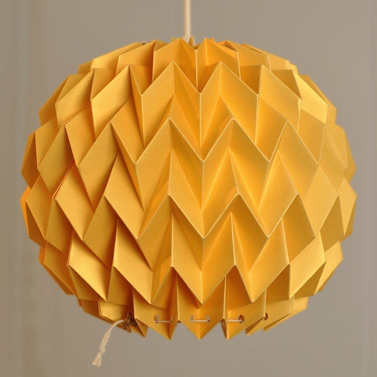 Fiber Store Bubble Yellow   イエロー - 折り紙のような陰影がアートなランプシェード