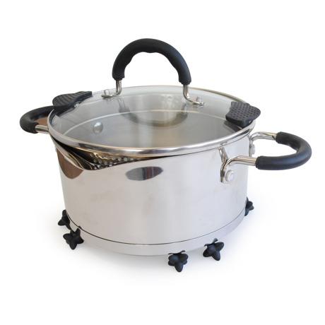 TOVOLO タンブルトリベット 収納スペースを考えたら、ミニマルな鍋敷きになりました。 ブラック