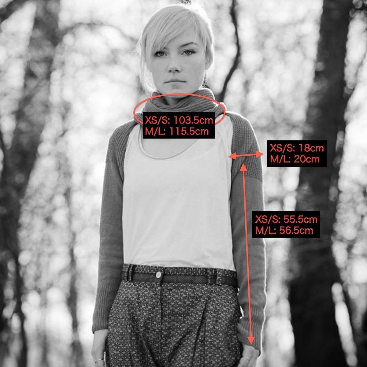 celapiu|Grey  Neverending Sleeves  | グレー - 使い方いろいろな片袖ニット