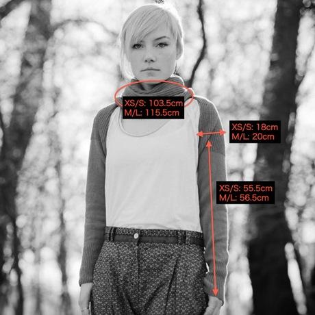 celapiu|Grey  Neverending Sleeves  | グレー - 使い方いろいろな片袖ニット|XS/S