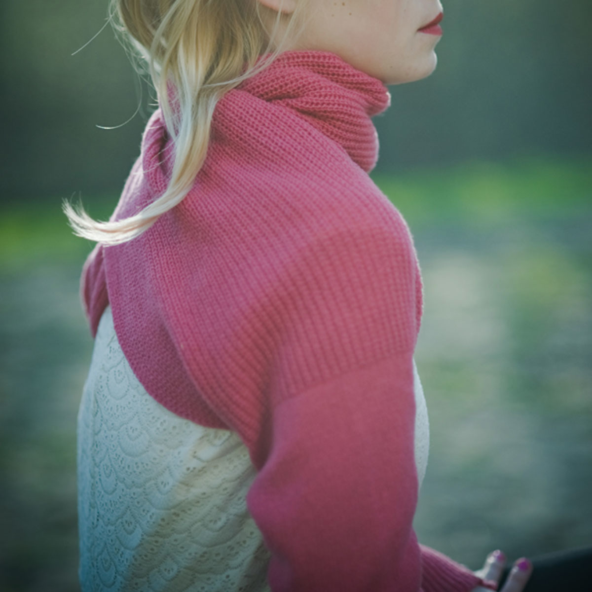 celapiu|Pink  Neverending sleeves  | ピンク - 使い方いろいろな片袖ニット