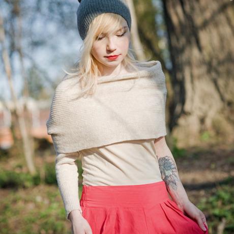celapiu|Cream  Neverending Sleeves | クリーム - 使い方いろいろな片袖ニット|XS/S