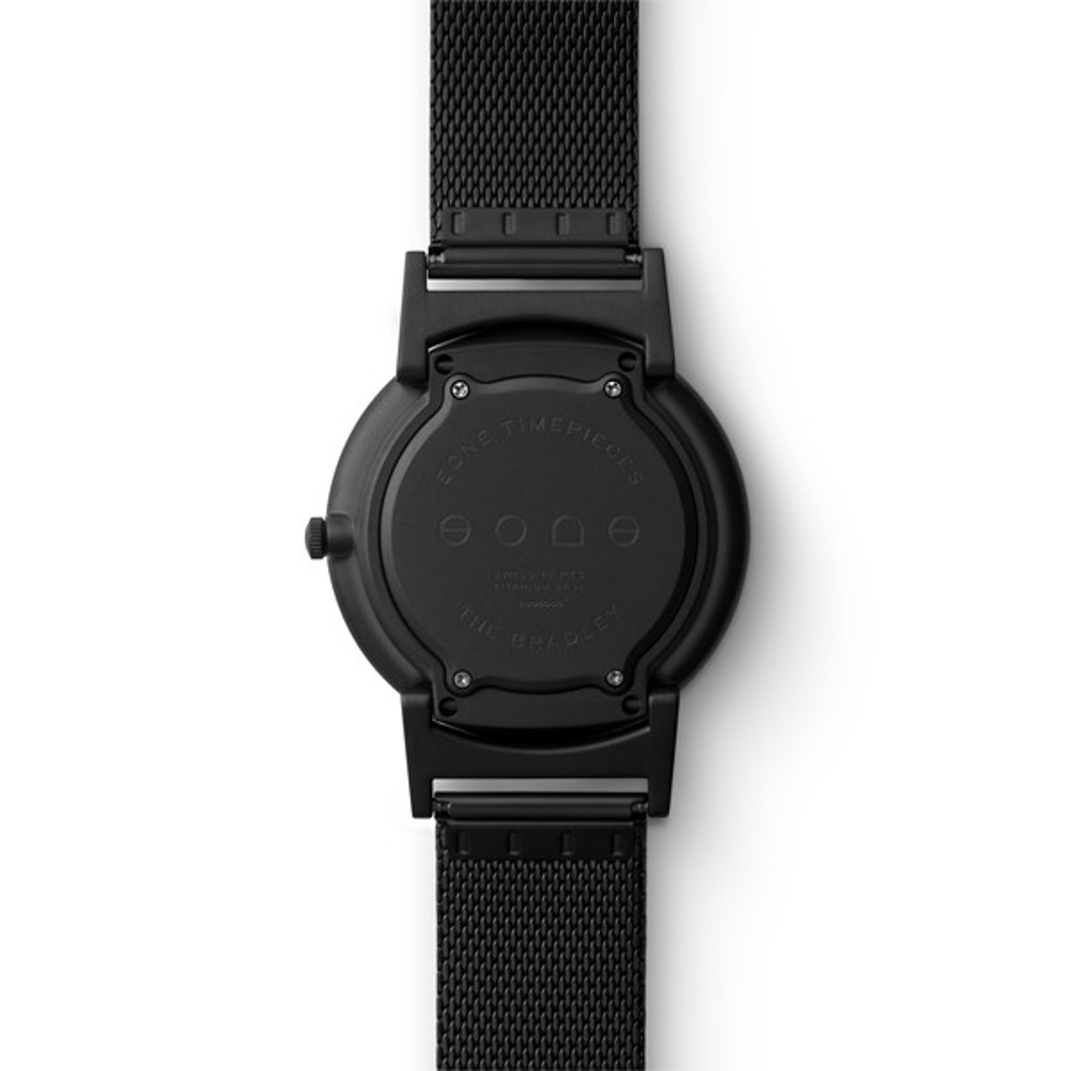 触る時計『EONE』 《MESH BLACK》なめらかな装着感のメッシュバンド、触って時間を知る時計  EONE