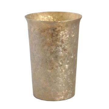 氷が溶けない純チタンタンブラー 保温・保冷力は通常グラスの6倍   燕三条 純チタン製 二重タンブラー 290cc GOLD(在庫限り)