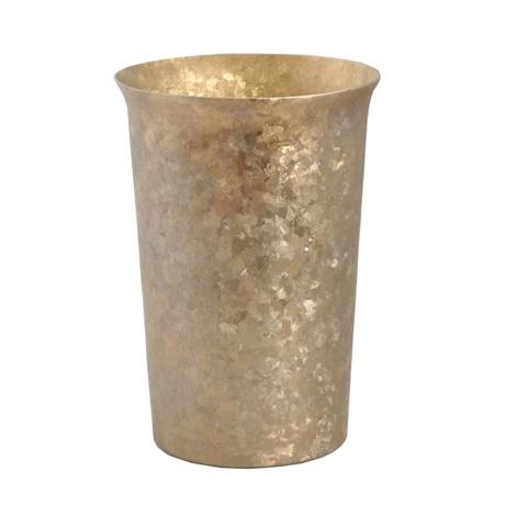 氷が溶けない純チタンタンブラー 保温・保冷力は通常グラスの6倍   燕三条 純チタン製 二重タンブラー 290cc GOLD