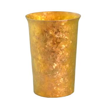氷が溶けない純チタンタンブラー 保温・保冷力は通常グラスの6倍   燕三条 純チタン製 二重タンブラー 290cc PREMIUM GOLD(在庫限り)