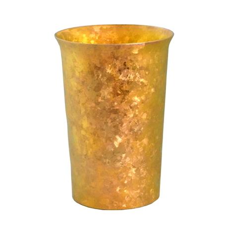 氷が溶けない純チタンタンブラー 保温・保冷力は通常グラスの6倍   燕三条 純チタン製 二重タンブラー 290cc PREMIUM GOLD