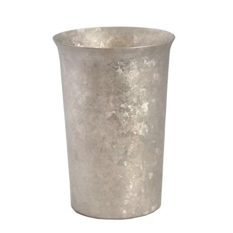 氷が溶けない純チタンタンブラー 保温・保冷力は通常グラスの6倍   燕三条 純チタン製 二重タンブラー 290cc SILVER