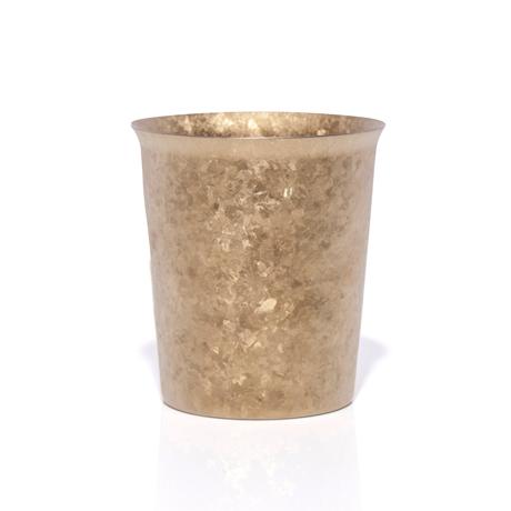 氷が溶けない純チタンタンブラー 保温・保冷力は通常グラスの6倍   燕三条 純チタン製 二重タンブラー 250cc GOLD