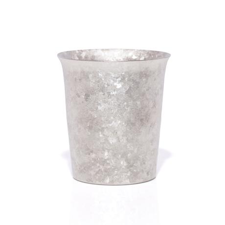 氷が溶けない純チタンタンブラー 保温・保冷力は通常グラスの6倍   燕三条 純チタン製 二重タンブラー 250cc SILVER