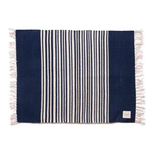 手織り生地で1枚1枚丁寧に作られたコットン100%のフロアマット