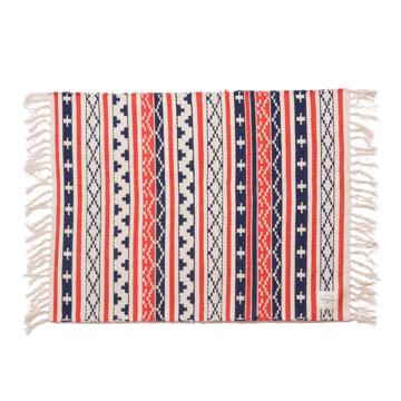LIMONCHELLO|手織り生地で1枚1枚丁寧に作られたコットン100%のフロアマット|TRICOLOR