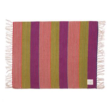 LIMONCHELLO|手織り生地で1枚1枚丁寧に作られたコットン100%のフロアマット|MULTI BORDER