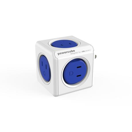 家庭内の電源を「設計」してみる Original(USBポートなし / コードなし)– 必要なコンセント口数を決めることができ省スペース化可能なキューブ型電源タップ BLUE