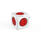 家庭内の電源を「設計」してみる Original(USBポートなし / コードなし)– 必要なコンセント口数を決めることができ省スペース化可能なキューブ型電源タップ RED