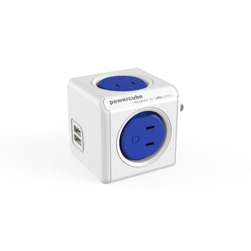 Original USB(USBポート付 / コードなし)- 必要なコンセント口数を決めることができ省スペース化可能なキューブ型電源タップ