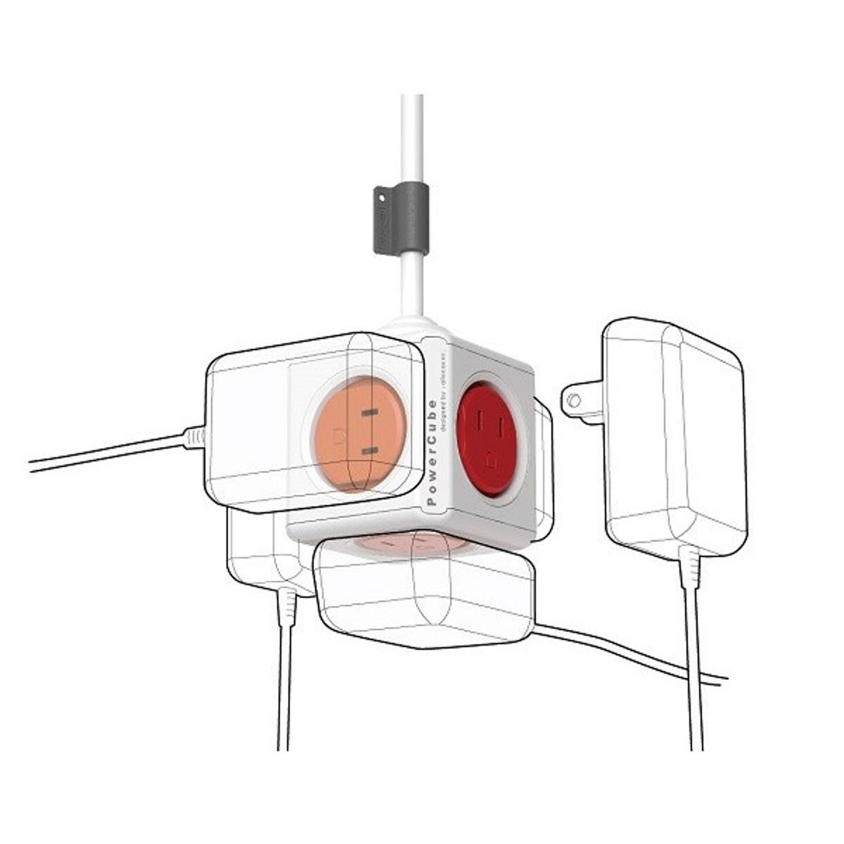 家庭内の電源を「設計」してみる Extended(コード1.5m / USBポートなし)- 必要なコンセント口数を決めることができ省スペース化可能なキューブ型電源タップ