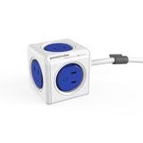 家庭内の電源を「設計」してみる Extended(コード1.5m / USBポートなし)- 必要なコンセント口数を決めることができ省スペース化可能なキューブ型電源タップ BLUE(在庫限り)