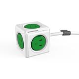家庭内の電源を「設計」してみる Extended(コード1.5m / USBポートなし)- 必要なコンセント口数を決めることができ省スペース化可能なキューブ型電源タップ GREEN(在庫限り)