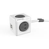 家庭内の電源を「設計」してみる Extended USB(コード1.5m / USBポート付)- 必要なコンセント口数を決めることができ省スペース化可能なキューブ型電源タップ GRAY(完売)