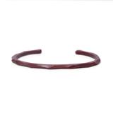 MOKUJINKEN|上品な木の質感が薫る極限の細身ウッドバンクル(赤) ウッドロックナローバングル / サティーネ(赤)|S