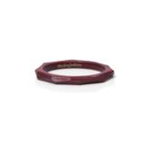 MOKUJINKEN|上品な木の質感が薫る極限の細身ウッドリング / サティーネ(赤)|7号