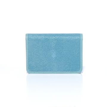 """BAHARI """"海の宝石箱""""と呼ばれるほどの耐久性と美しさ   ガルーシャ名刺入れ パールターコイズブルー"""