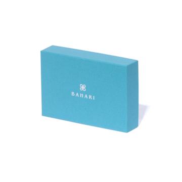 "BAHARI ""海の宝石箱""と呼ばれるほどの耐久性と美しさ   ガルーシャ名刺入れ パールロイヤルブルー"
