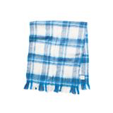 LIMONCHELLO|軽くて柔らかくモヘアのような肌触りが心地よいスローケット / M(ひざ掛けサイズ)|BLUE CHECK