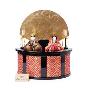 《四季 親王飾》毎年飾るのが楽しみになる、7つの日本伝統工芸をコンパクトにした、木目込みプレミアム雛人形 | 四季 親王飾