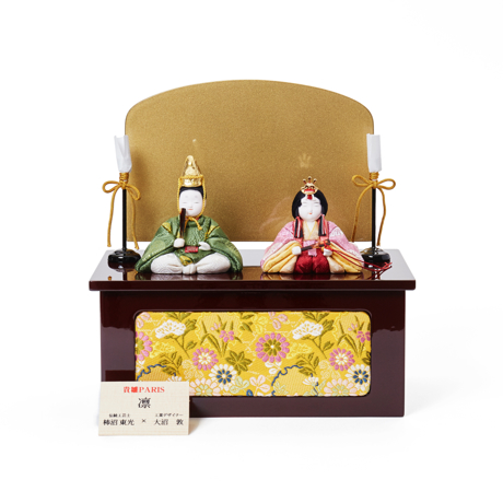 『毎年の幸せ』が御嬢様と家族に訪れる 《凛 親王飾》毎年飾るのが楽しみになる、5つの日本伝統工芸をコンパクトにした、木目込みプレミアム雛人形   凛 親王飾 