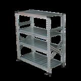THE TASTEMAKERS & CO.|幅98.0 × 高さ105.6cm(シェルフ4段)世界のメゾンブランドのバックヤードでも愛用される、組み立て簡単、軽量スチールラック | 4 TIER STEEL SHELF (W900シリーズ)|